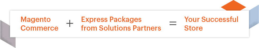 Magento Commerce plus Express Package equals Your Successful Store