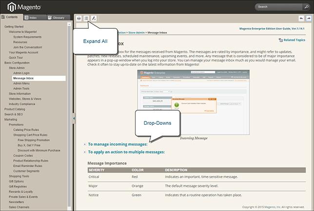 4864_dropdowns_r1v1 Melhorias na documentação online do Magento